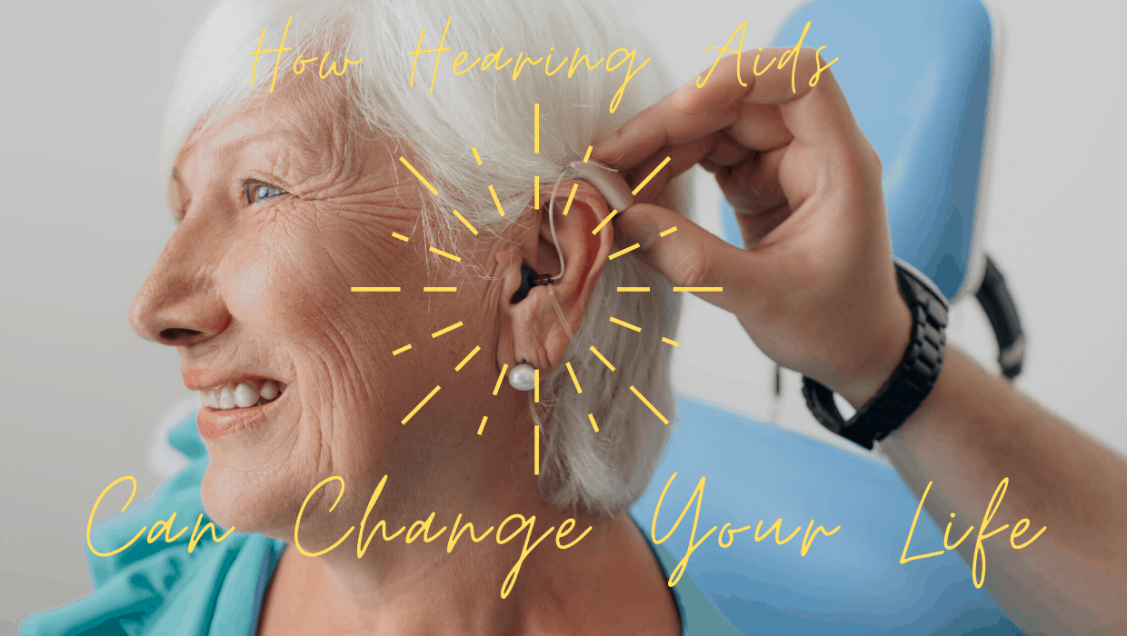 elderly woman getting fitted
